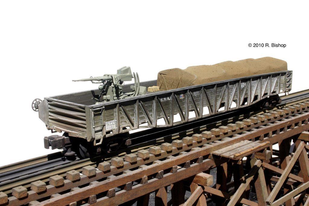 ModelCrafters U.S. Army 53` Gondola w/Twin 40mm Bofor Anti-Aircraft Gun | Flickr - Photo Sharing!