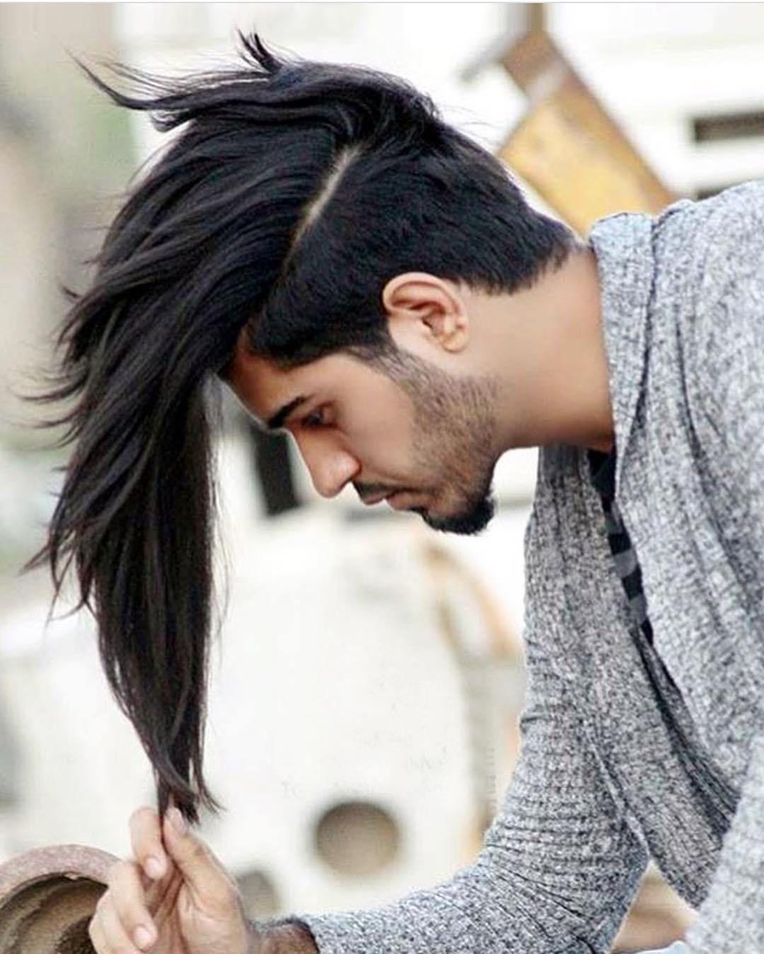 Classic Black Long Hairstyles Potongan Rambut Pria Gaya Rambut