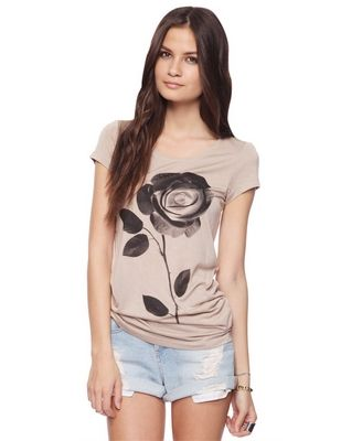 Taupe shaded rose tunic from Forever 21.