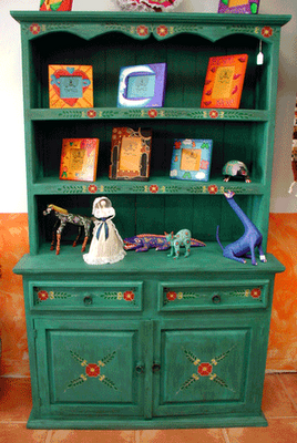 Green Kitchen Cabinet Imported From Mexico Interior