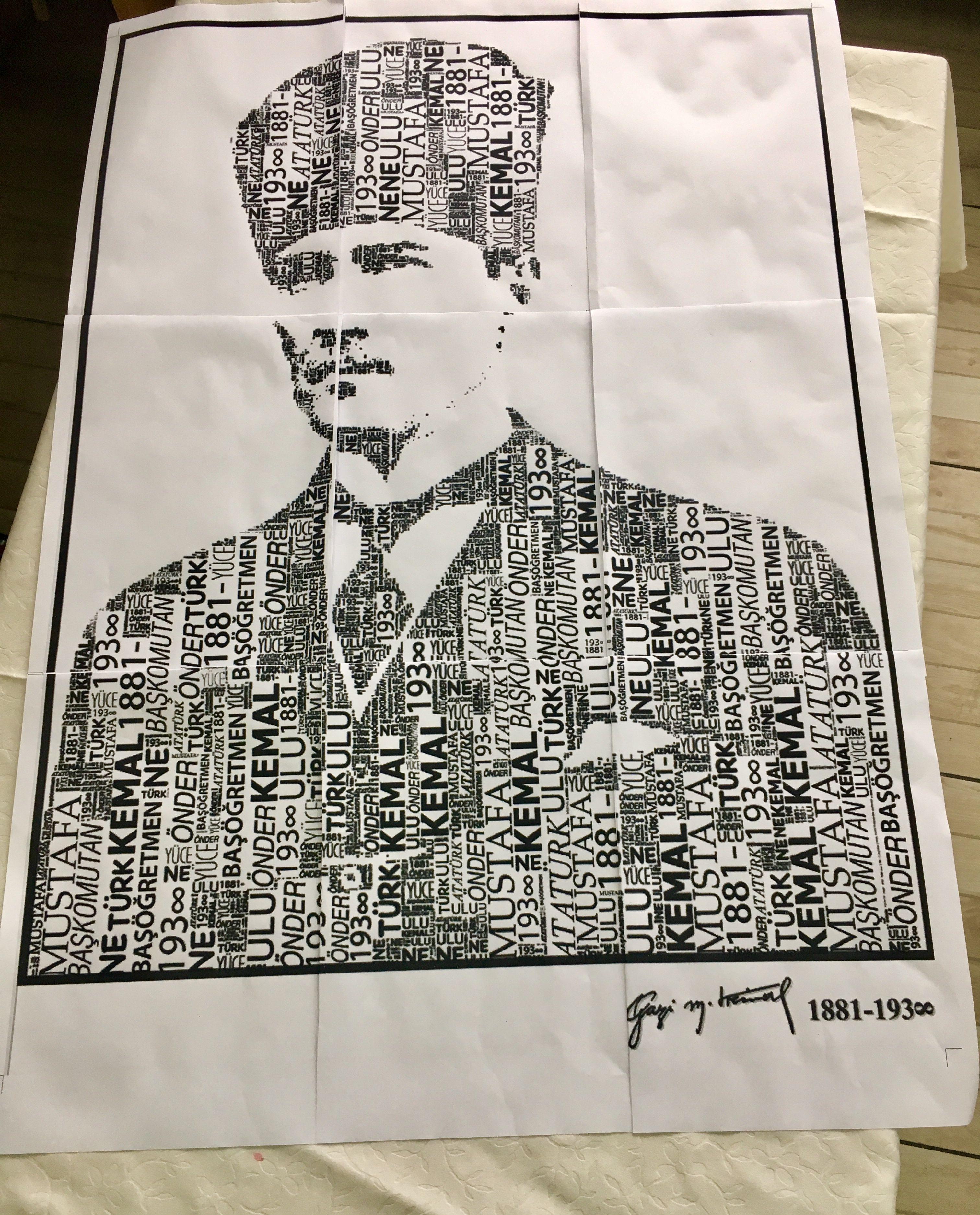 Ataturk Poster Calismasi Cigdem Ogretmen Siyah Beyaz Fotografcilik Poster Siyah Beyaz
