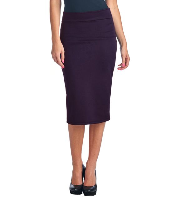 Womens Long Pencil Skirt Brown PonteRoma High Quality Jersey Ladies Plus Size