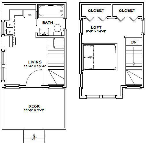 12x16 Tiny House Pdf Floor Plan 367 Sq Ft Model 6 2