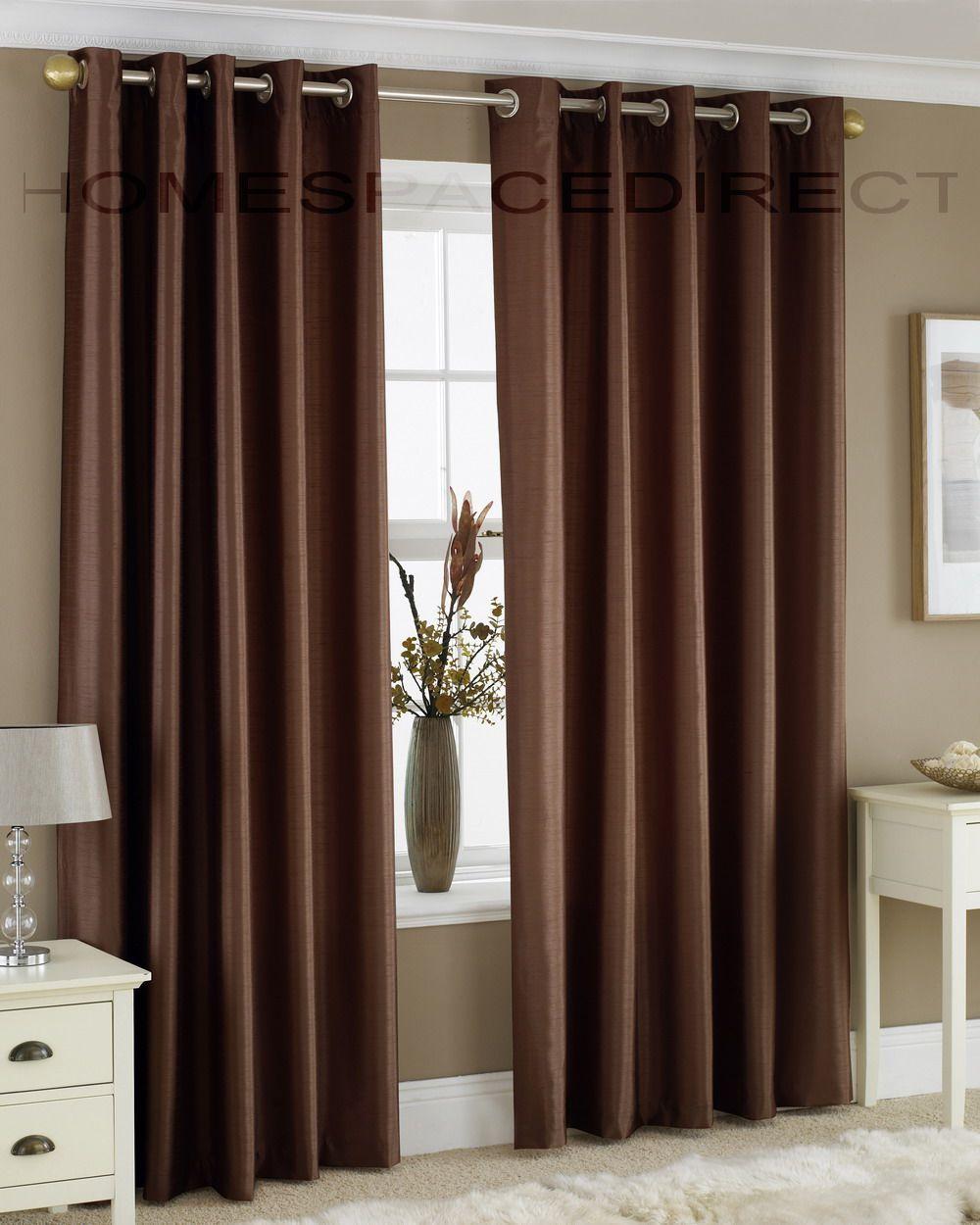 Brown Curtains Korichnevye Shtory Korichnevye Gostinnye Spalnya V