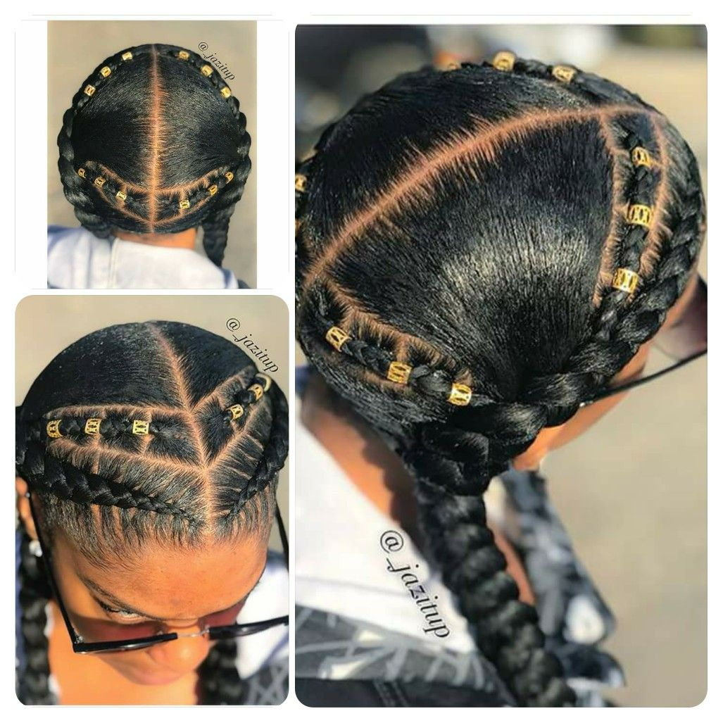 Minus The Extra In The Back Girls Hairstyles Braids Natural Hair Styles Braided Hairstyles