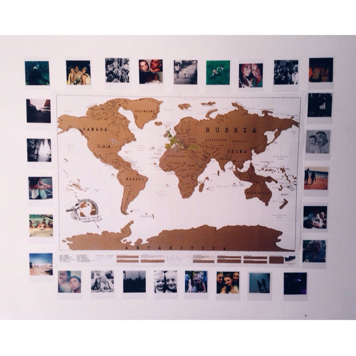 Scratch map and polaroids room ideas pinterest room ideas scratch map and polaroids gumiabroncs Gallery