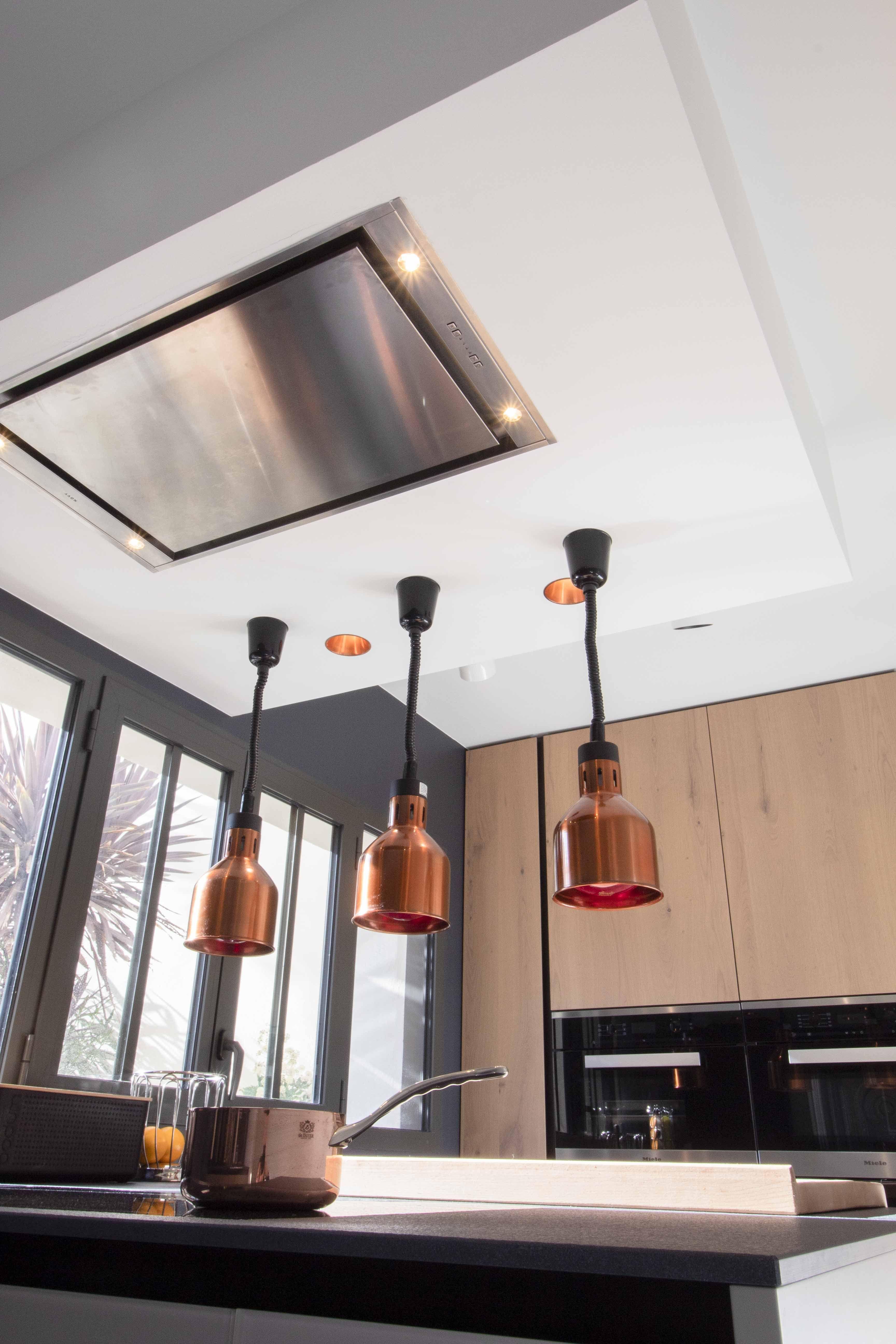 cuisine bois laque et cuivre - architecture et décoration d