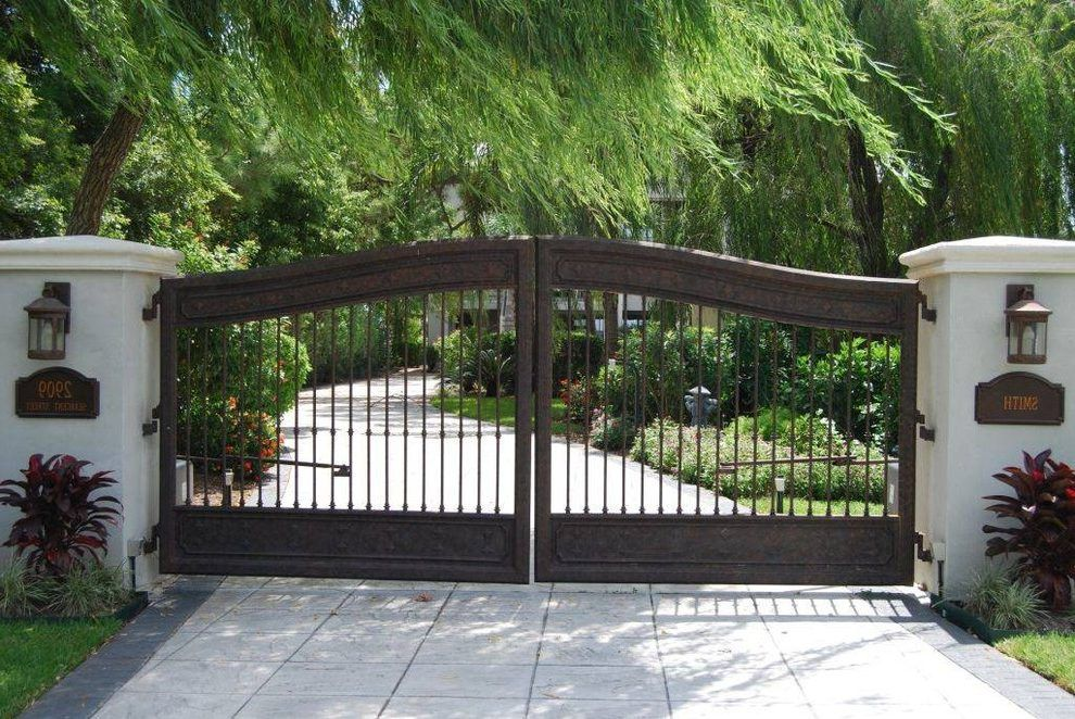 Farm house main gate designs landscape mediterranean with for Home gate design