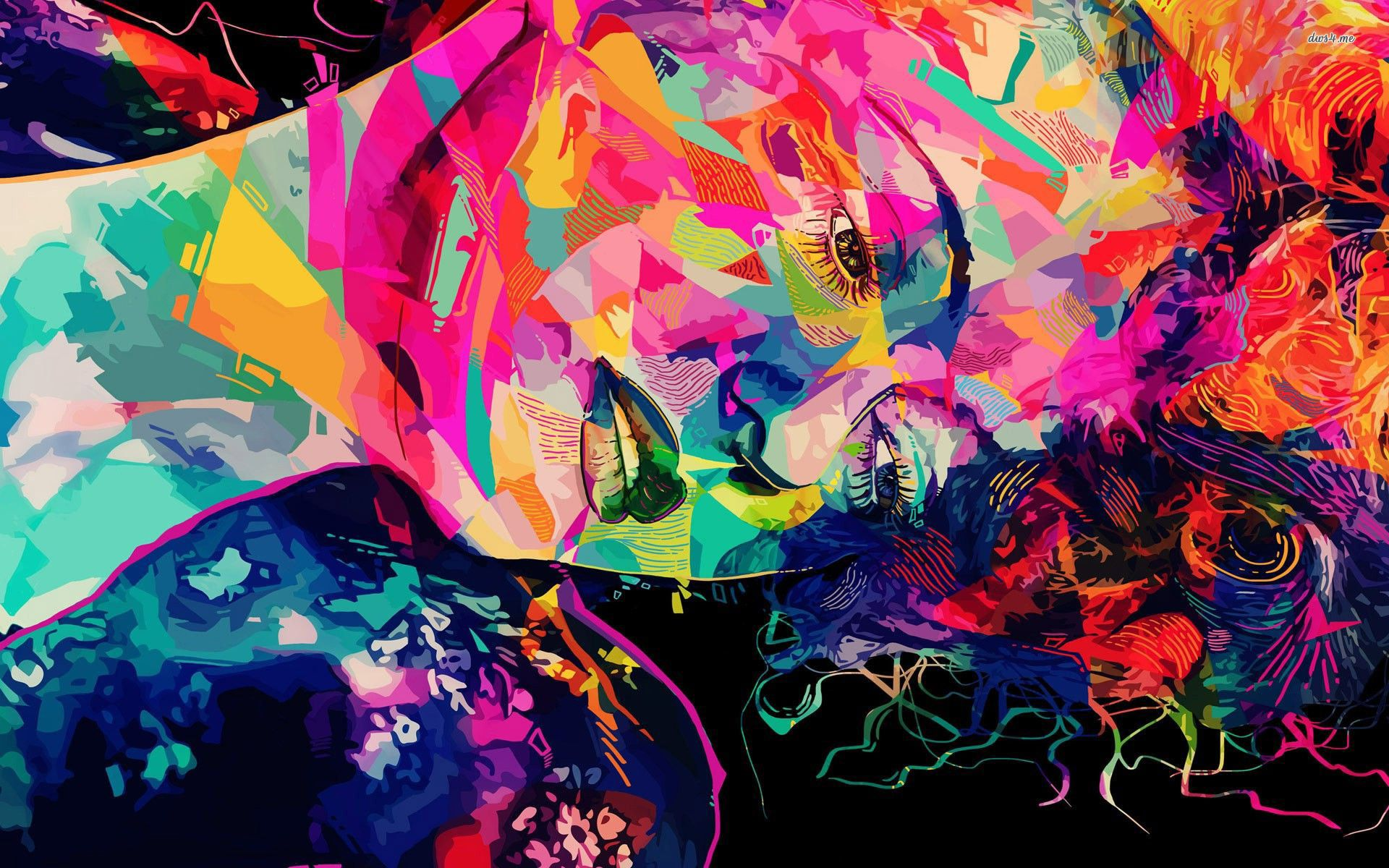 Artistic Abstract Wallpaper 1080p Free Download (With