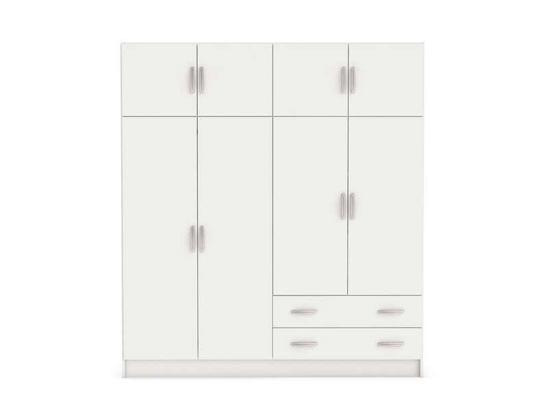 Armoire 8 portes 2 tiroirs TOP 2 coloris blanc - pas cher ? C\'est ...