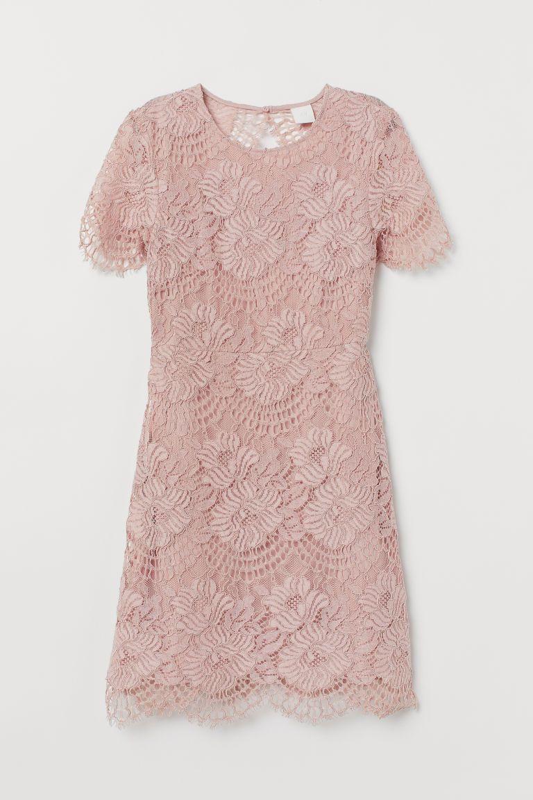 PDP  Rosa spitzenkleider, Kleider h&m, Kleid spitze