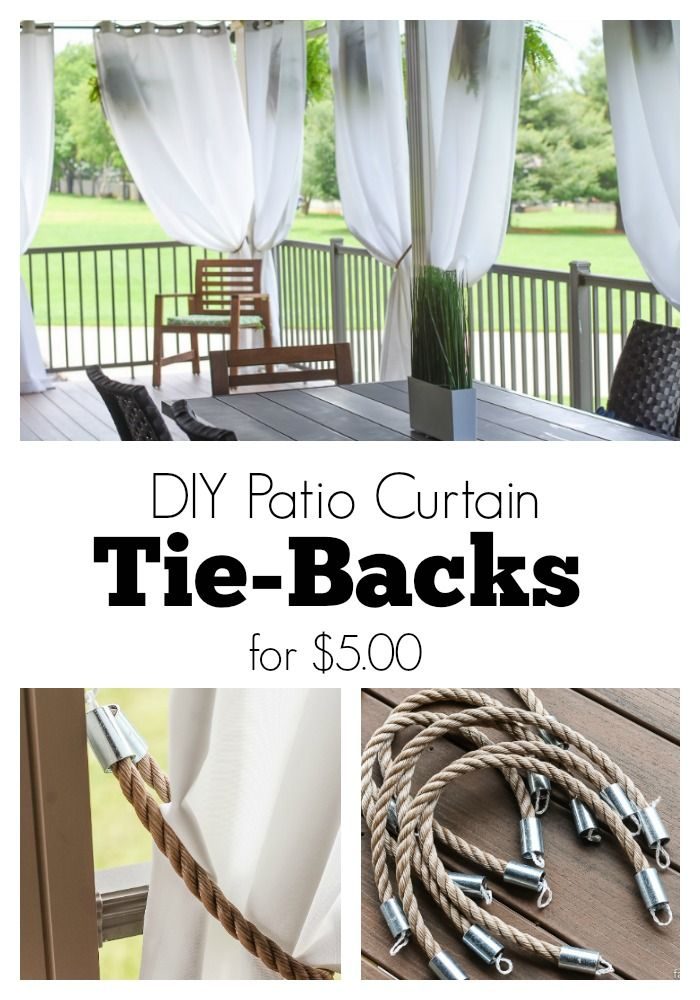 Diy Patio Curtain Tie Backs For 5 00 Rustic Nautical Patio