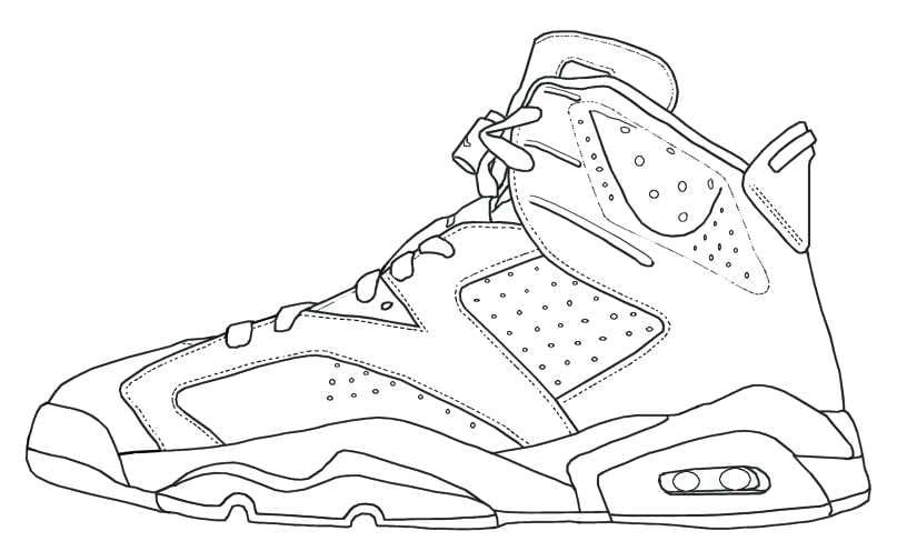 Shoe Coloring Sheets Sneakers Drawing Shoes Drawing Sneakers