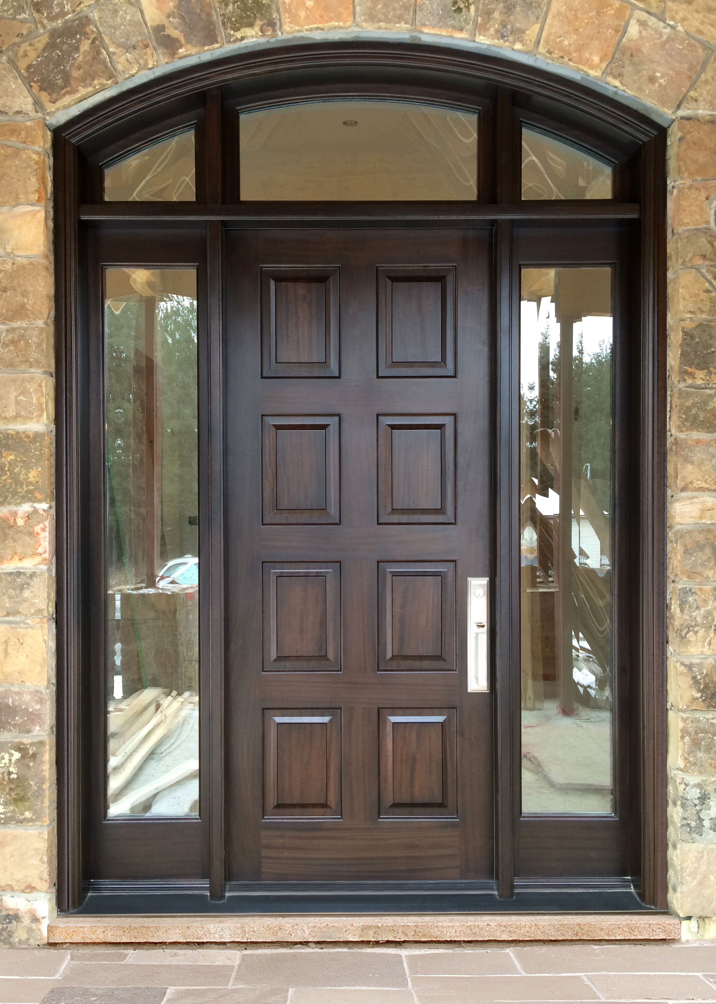 This home owner is ecstatic about their elegant for Front entry doors with sidelights