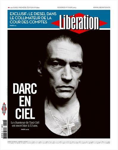 Une de Libération Daniel Darc
