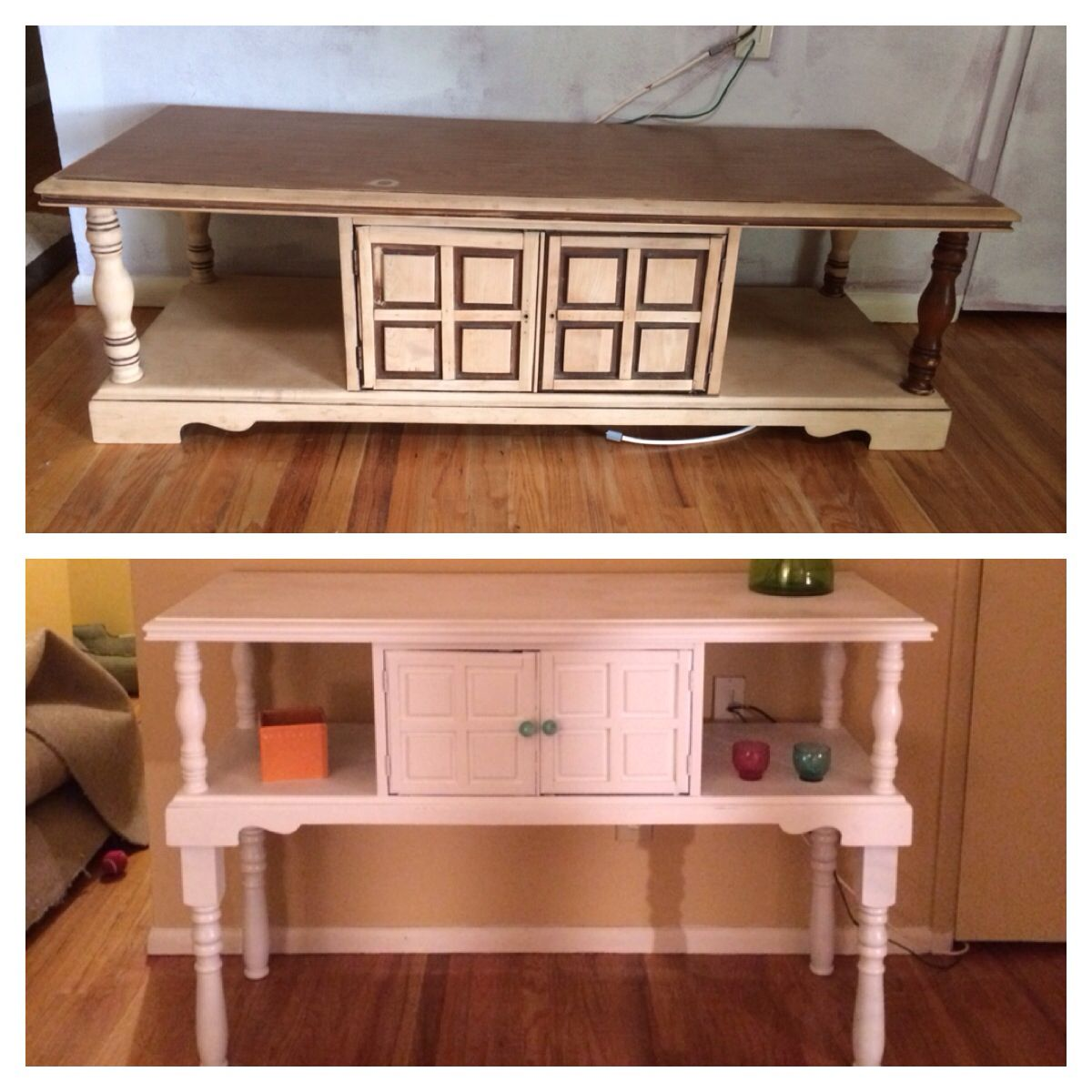 Coffee table I got for free off of craigslist and turned ...
