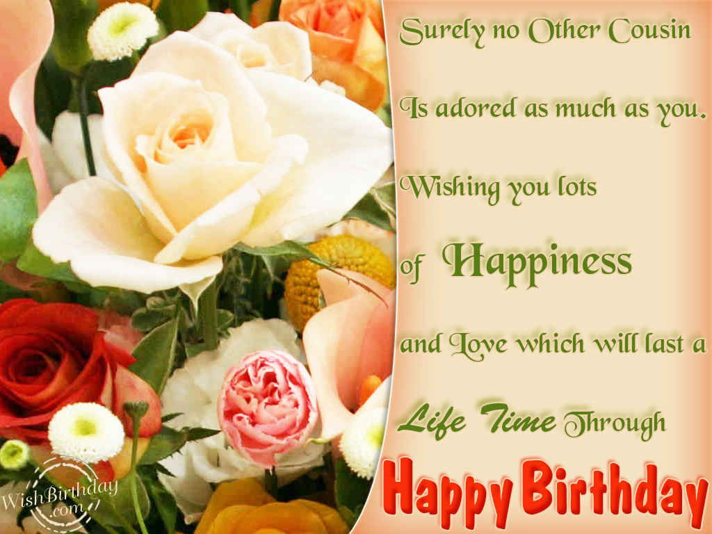 Happy birthday cousin i pray your day is blessed wonderful love funny love sad birthday sms wishes for boss happy cousin best free home design idea inspiration kristyandbryce Images