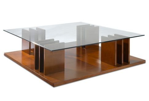 Hugues Chevalier Haussmann Coffee Table Square Wooden Coffee Table Coffee Table Table