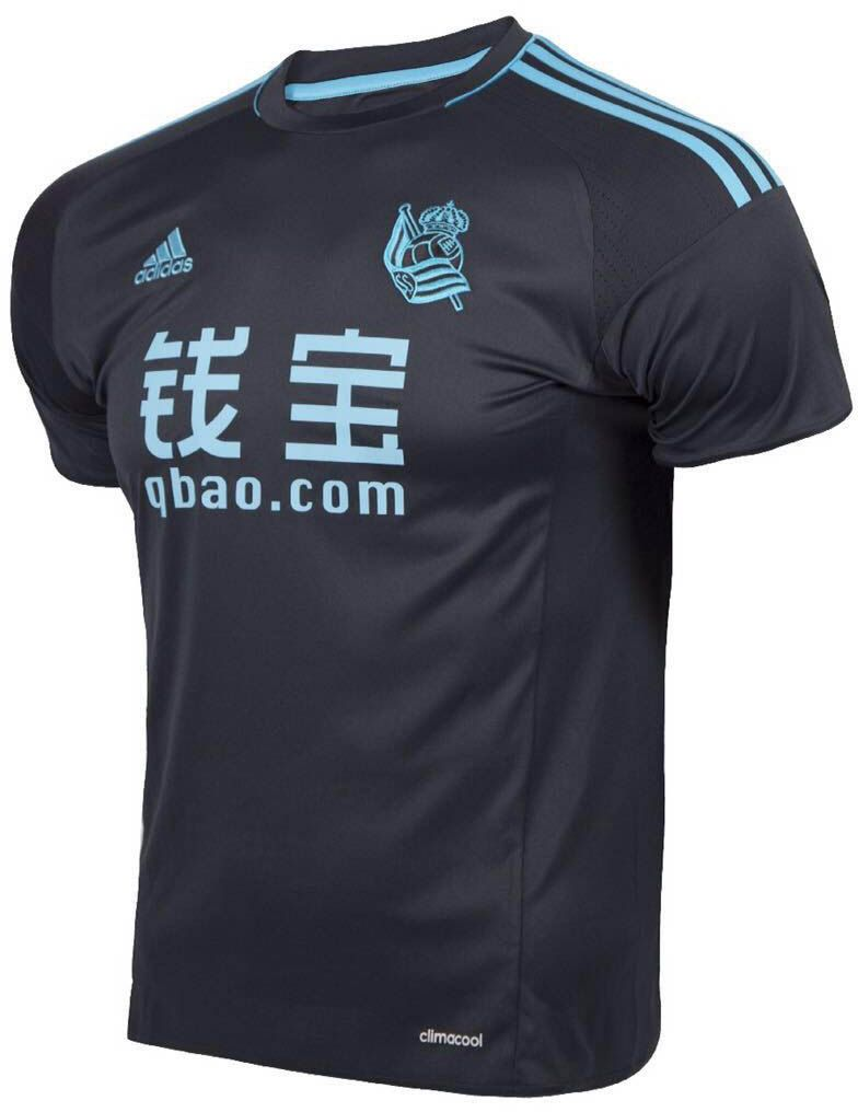 Real Sociedad de Fútbol (Spain) - 2016 2017 Adidas Away Shirt ... 536ac6173d65c