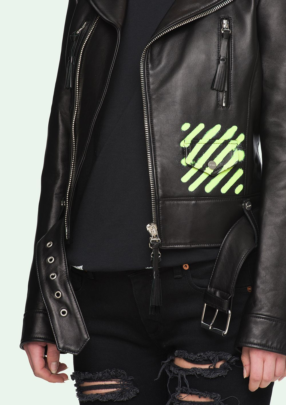 Spray Paint Leather Jacket In 2019 Painted Leather Jacket
