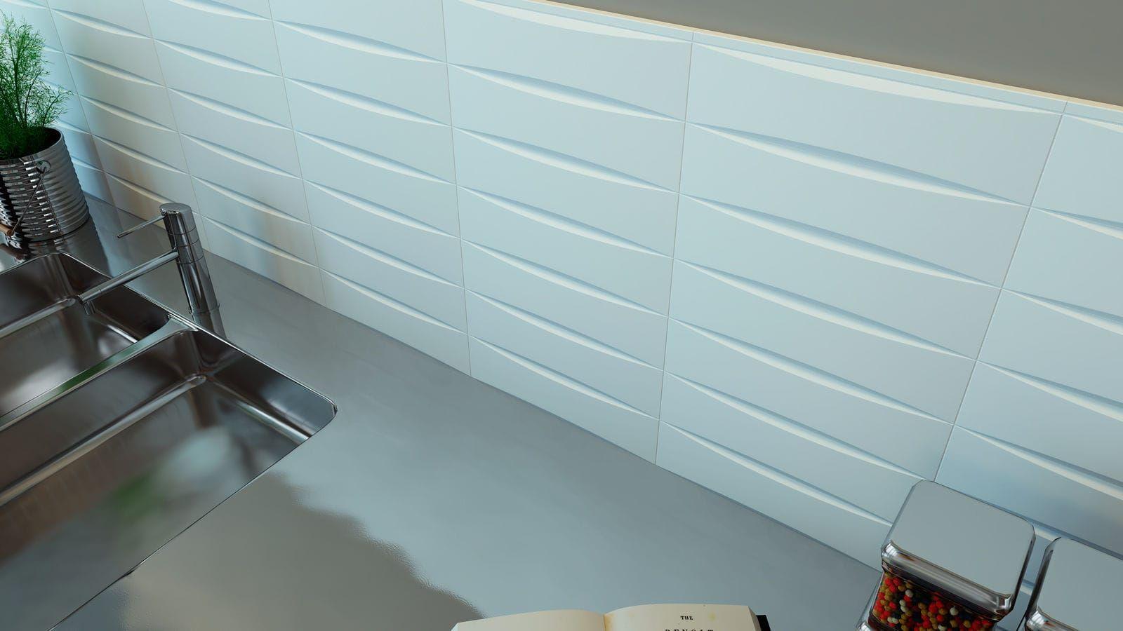 Wall tile / ceramic / plain / high-gloss NEW BEVEL WOW Design EU ...