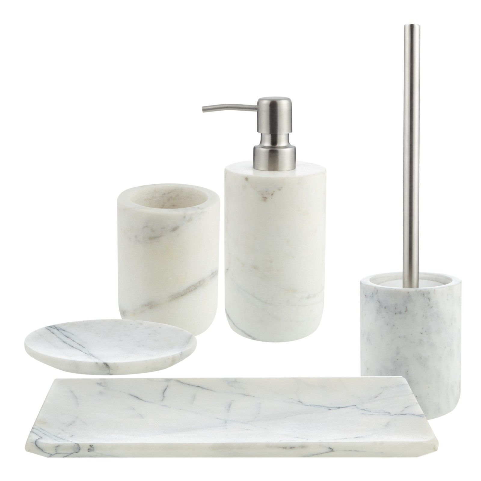Buy John Lewis White Marble Bathroom Accessories Online At Johnlewis Com Bathroomdesignj Marble Bathroom Accessories White Marble Bathrooms Marble Accessories