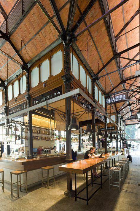 Mercado De San Miguel Madrid España Market Design Architecture Food Hall