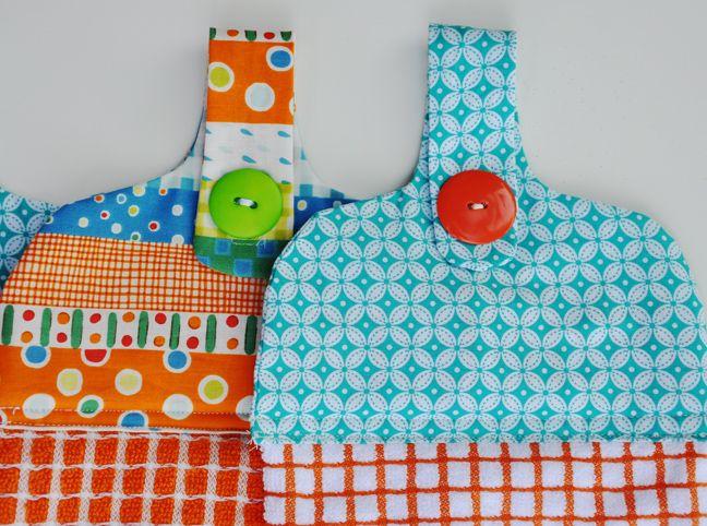 DIY: Hanging Dishtowel | Sewing | Sewing crafts, Dish towel