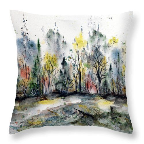 Forest In Late Summer Throw Pillow For Sale By Aniko Hencz 26 X 26 Summer Throw Pillow Mandala Artwork Nature Artwork