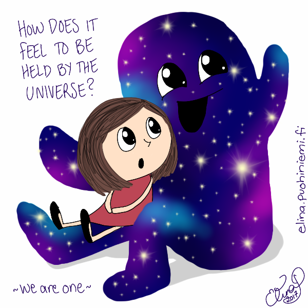 Be held by the Universe - Mira(cle)Doodles