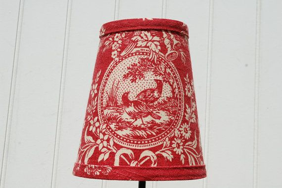 Red Toile Lampshade french toile clip lampshade | Toile, French ...