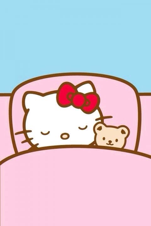 Hello Kitty durmiendo