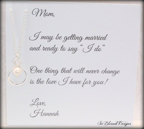 Infinity Necklace Mother Of The Bride Mom Necklace Brides Mother
