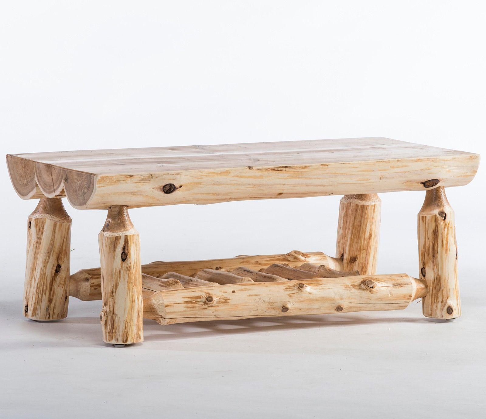 Cedar Lake Half Log Coffee Table (With images) Log