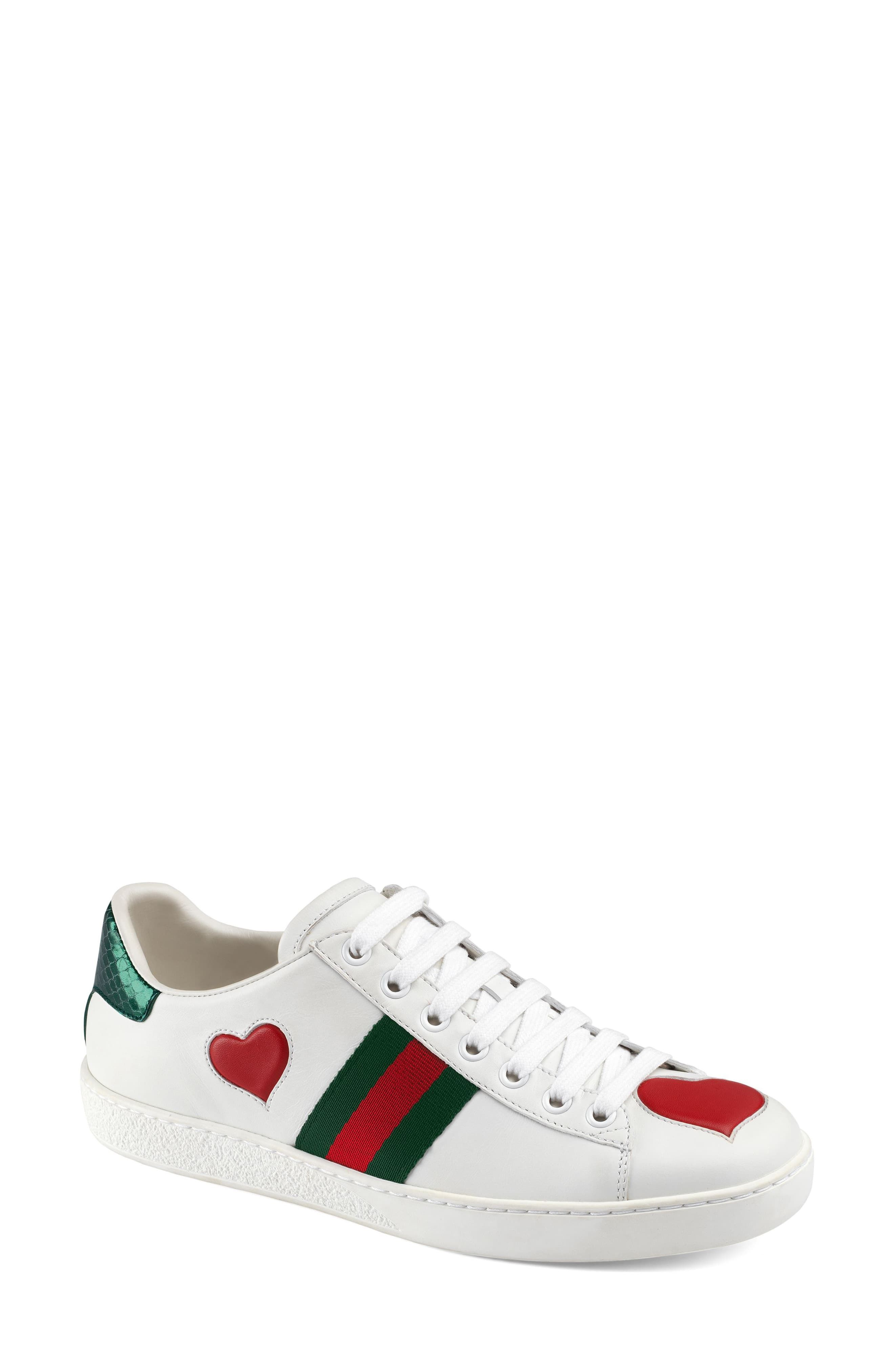 Gucci New Ace Heart Sneaker In 2019 Products Gucci Shoes Shoes