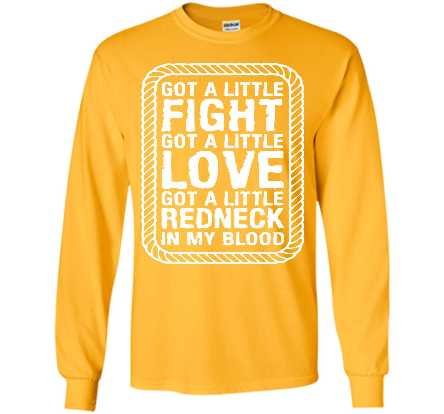 Little Fight Love and Redneck in My Blood T-shirt T-Shirt
