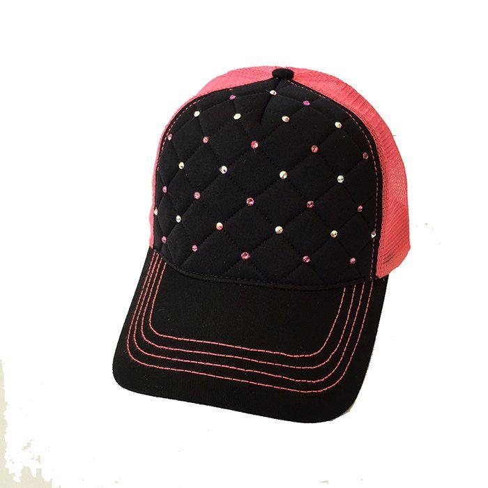 6007bdb2 Trucker Hat, Trucker Caps, Rhinetone Hats, Rhinestone Caps, Pink Trucker  Hats, Quilted Hats, Quilted Trucker Hat, Pink Rhinestone Hat by ...