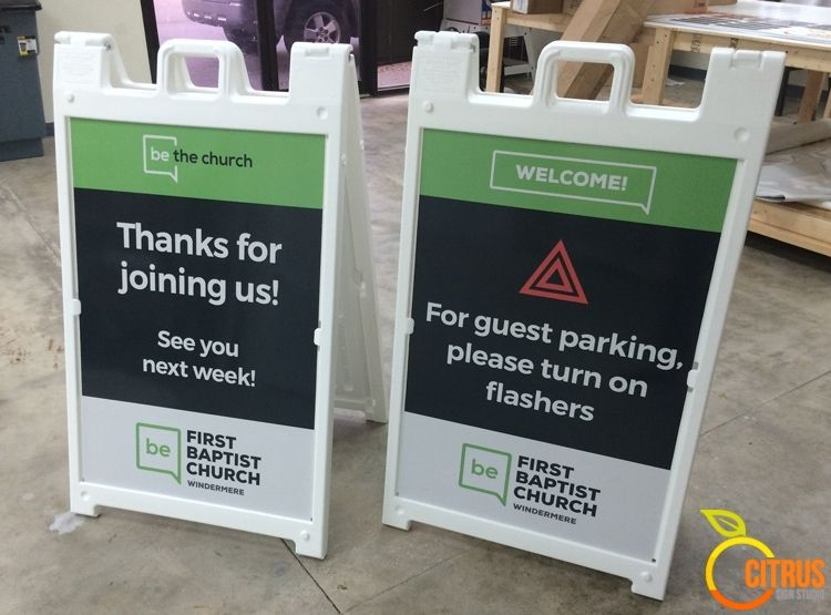 First Baptist Church A-Frame Foot Traffic Signs  #sandwichboard
