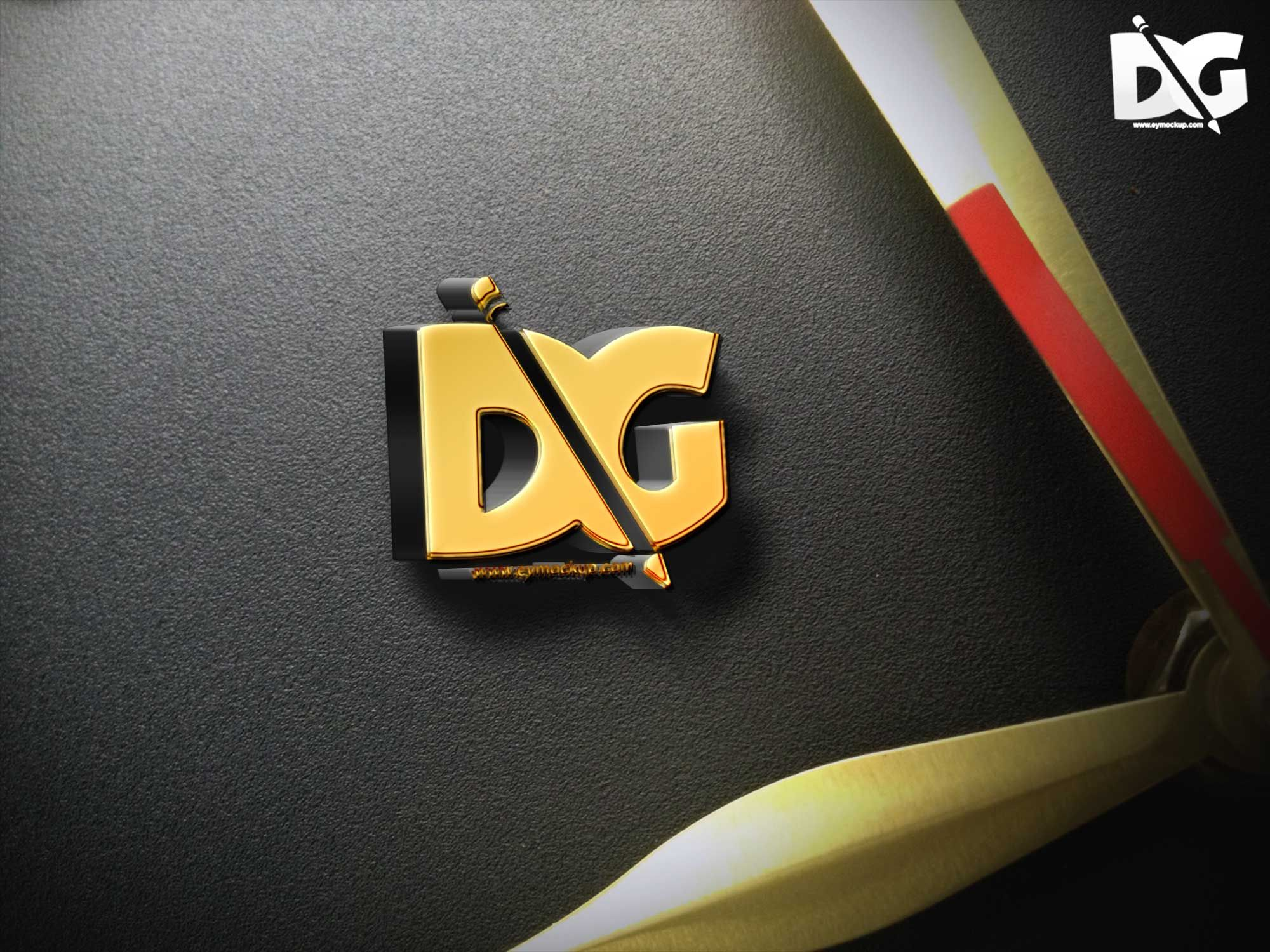 Now Showcase Your Logo Designs In A More Professional Way Using These Psd Free 3d Gold Sign Mockup Templates Sign Mockup Free Logo Mockup Mockup Free Download