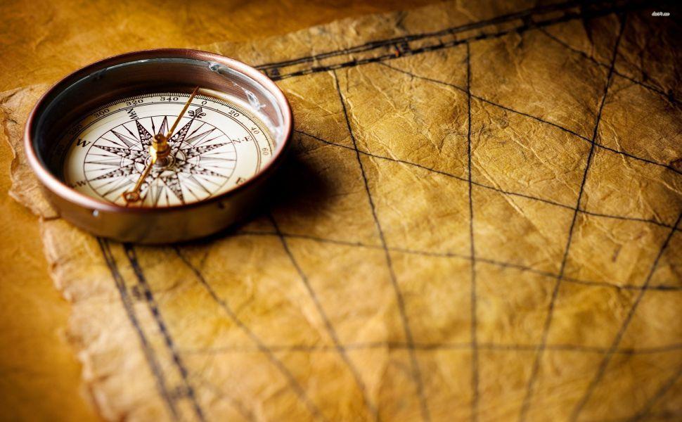 Compass on an old map HD Wallpaper Wallpapers Pinterest - copy 3d world map hd wallpaper
