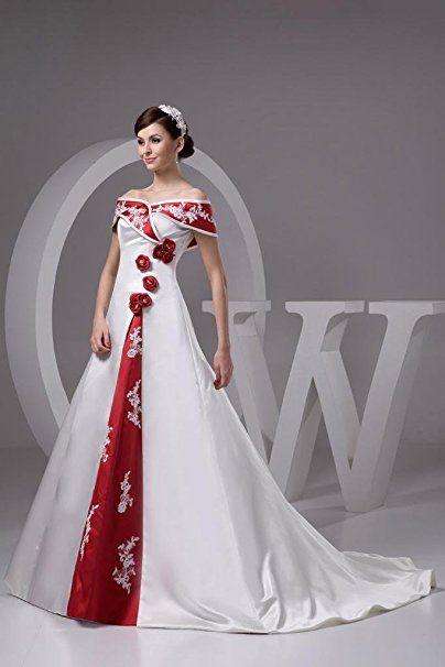GEORGE BRIDE Weinlese losen Brautkleid mit roter Ordnung ...