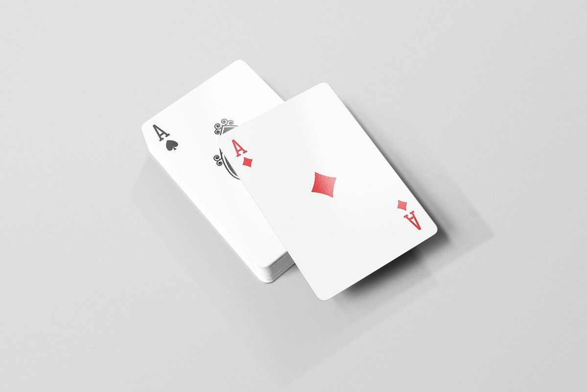 Playing Cards Mock Ups Brochure Template Psd Postcard Mockup Playing Cards