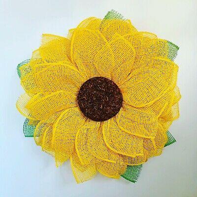 Photo of Handmade Poly Burlap Sunflower Wreath Front DoorSummer WreathFall #fashion #home …