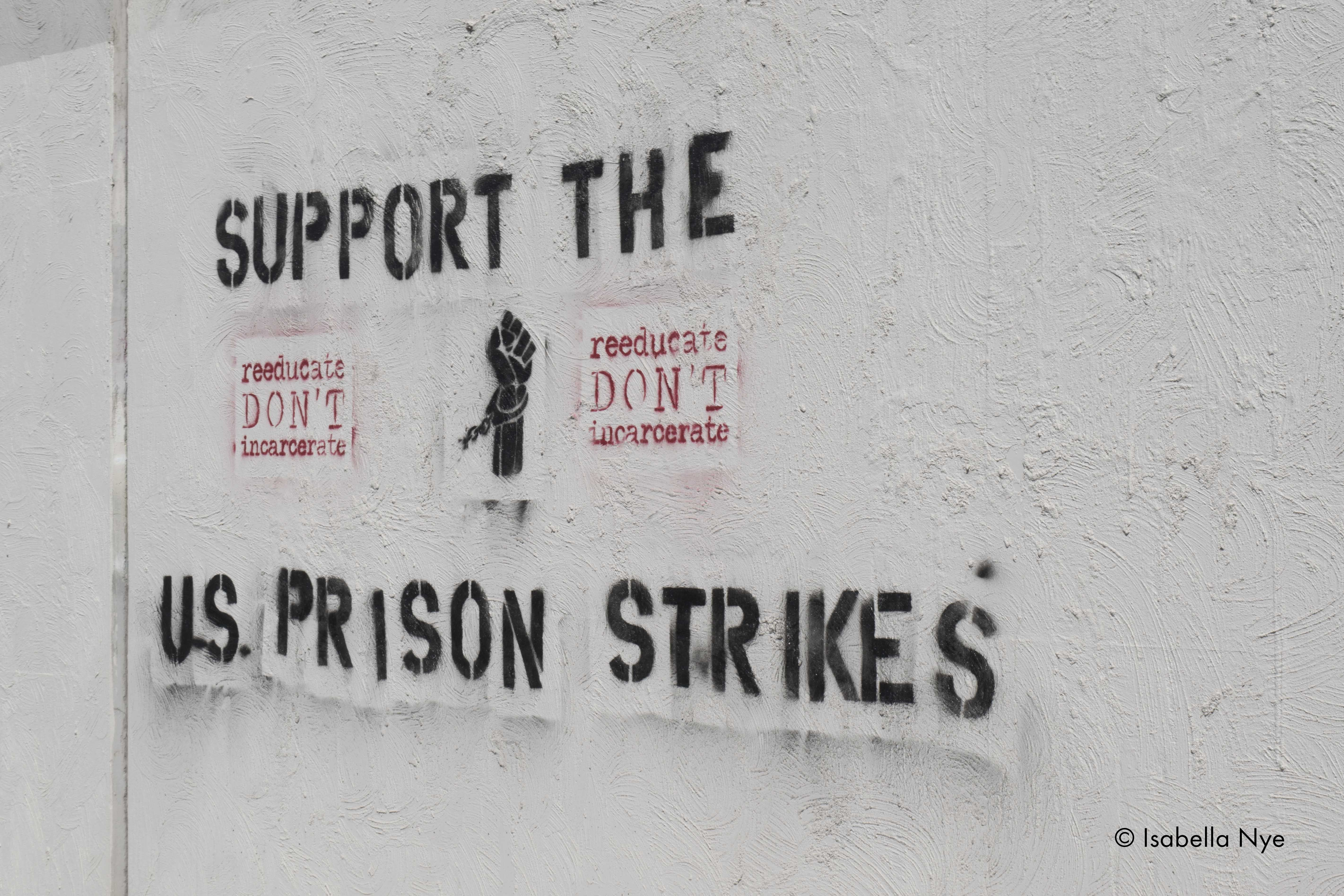 Protest Message Support Strikes Prison Us Unitedstates Melbourne Hardhitting Text Spraypaint Stencil Graffiti Meaning Silkscreen Text Text Types