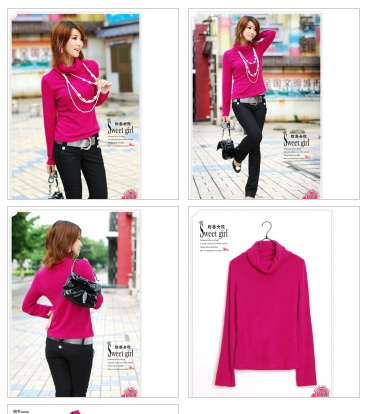 Rose Always Match High Collar Basic Shirt $25.71 on @ClozetteCo