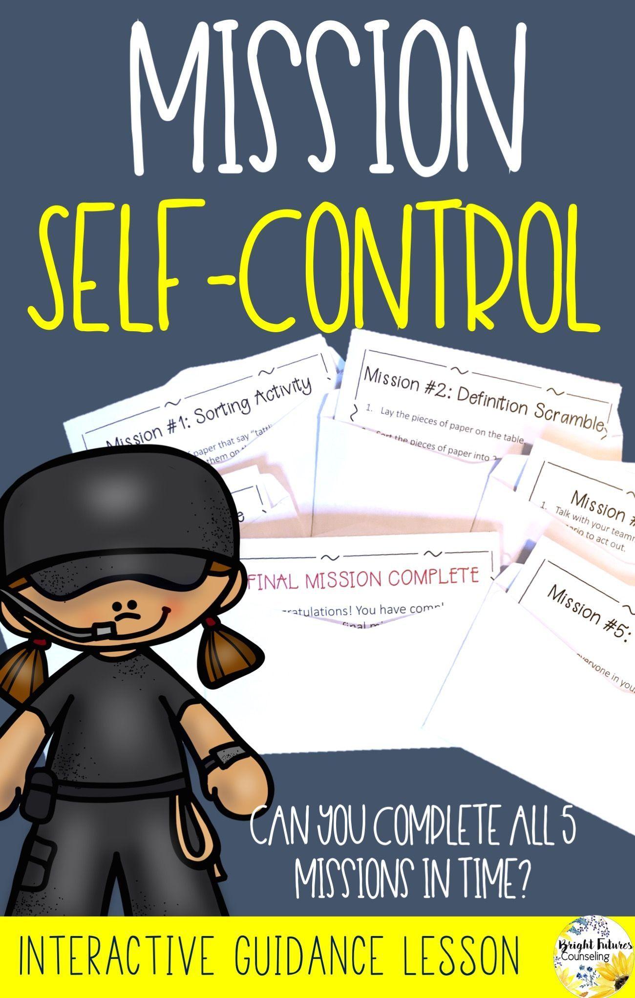 Self Control Interactive Guidance Lesson Mission Self