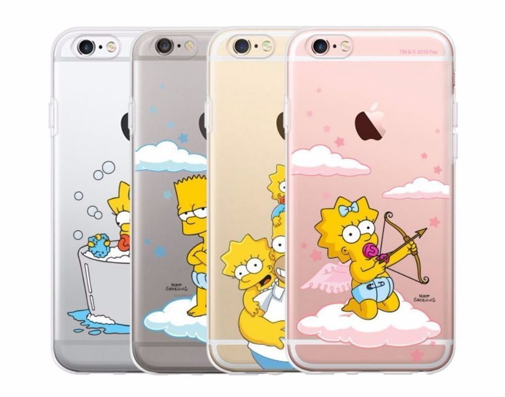 best loved d08d1 66ada SIMPSONS iPhone 6/6S/Plus Cell Phone Cute Soft Jelly Case Cover ...
