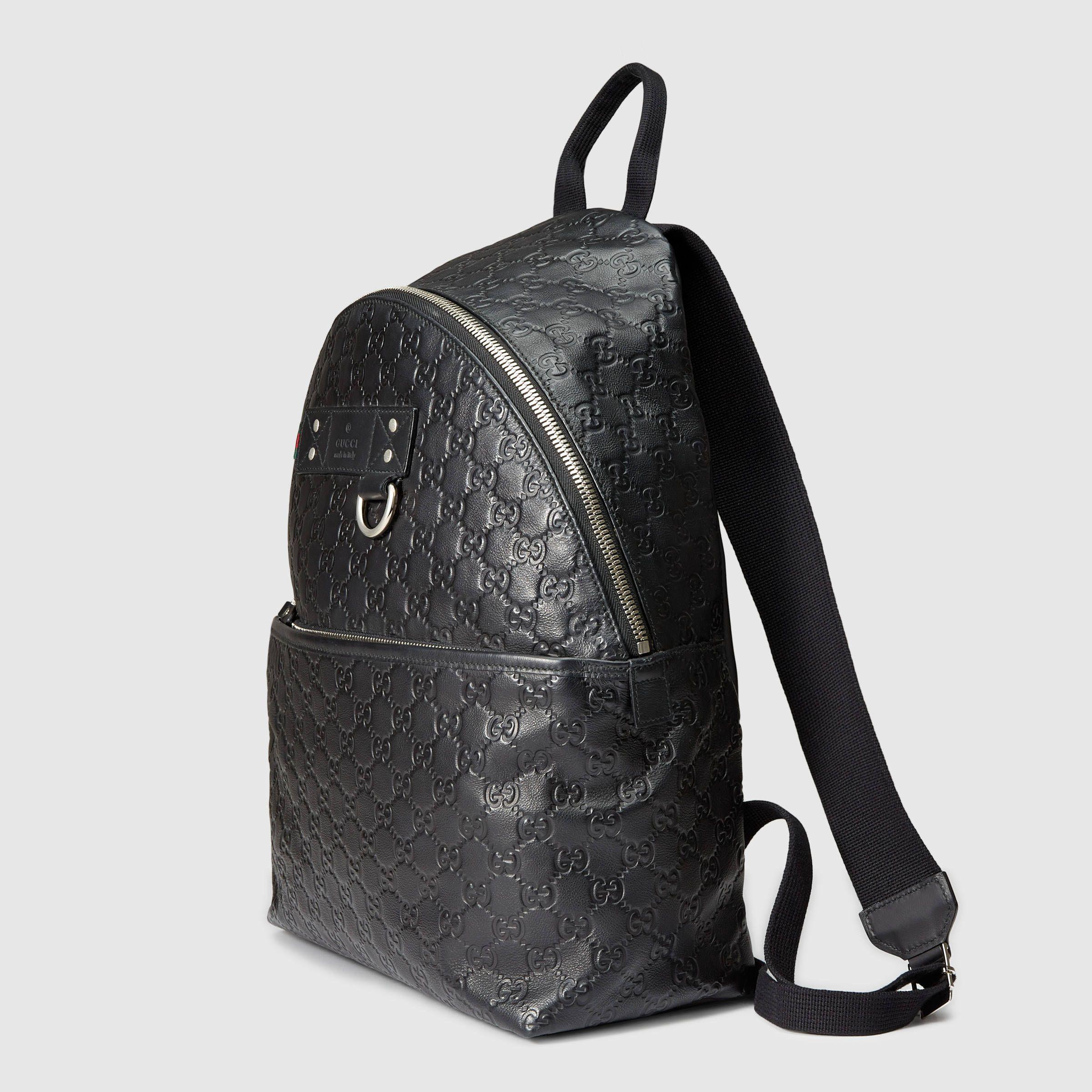 0288348e471 Mens Black Gucci Backpack- Fenix Toulouse Handball