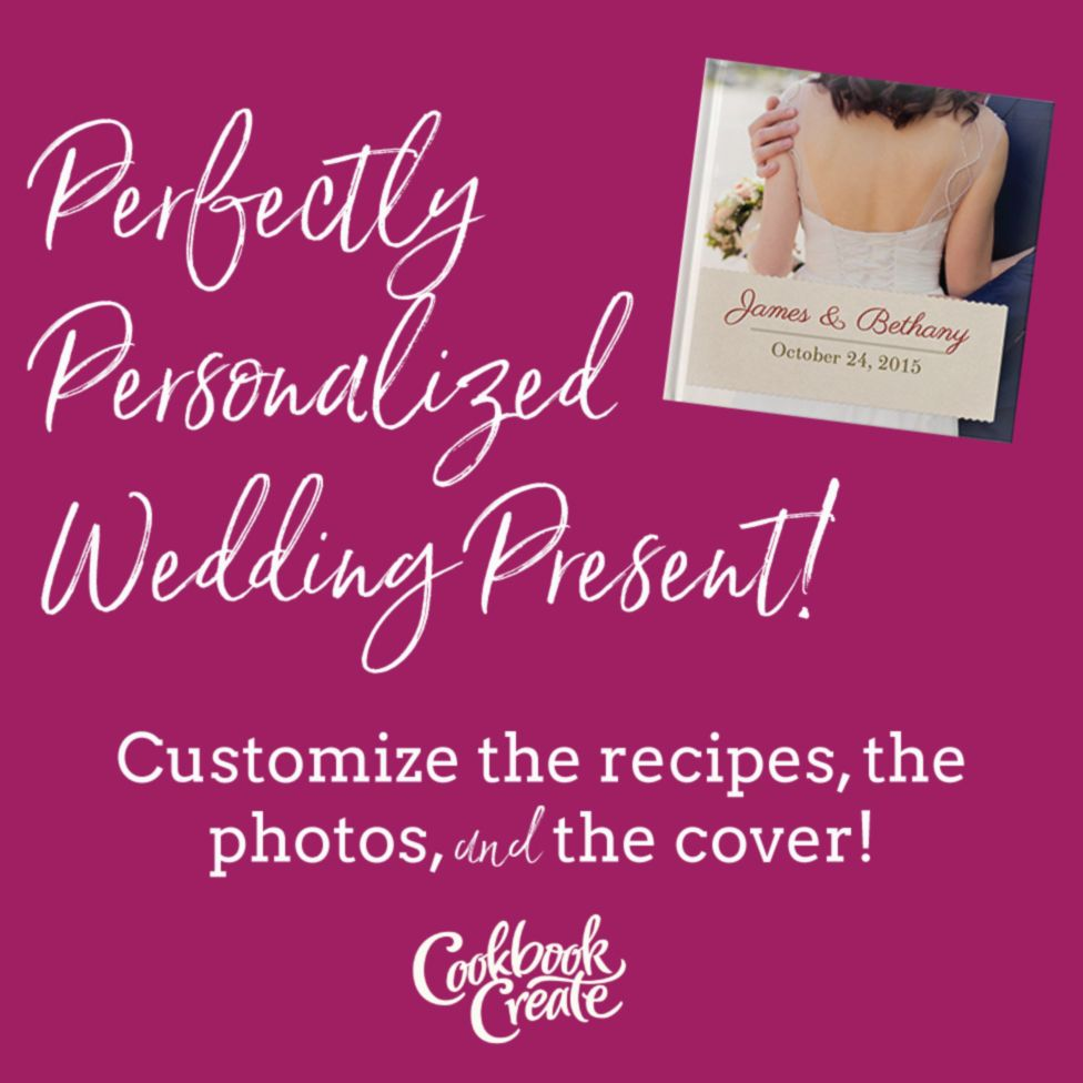Personal Cookbook of family recipes, perfect for a newlywed couple ...