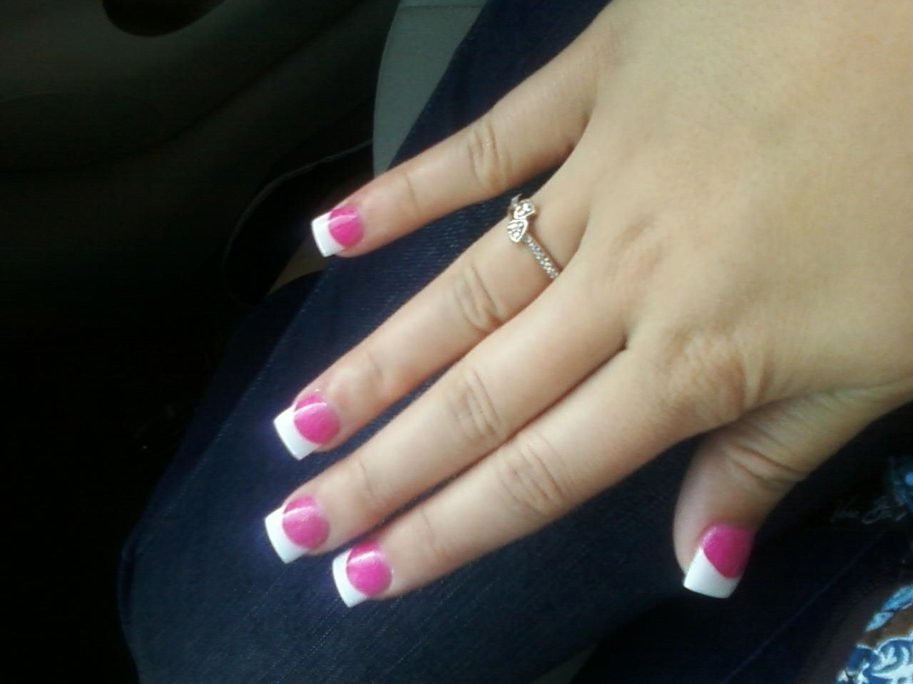 hot pink and white nails | beauty/tips | pinterest | white nails